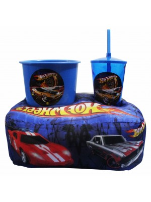 Kit Almofada Porta Pipoca Hot Wheels Evolution Car Comp: 40cm
