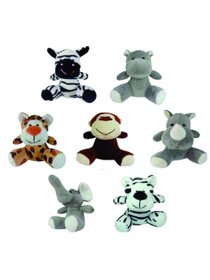 Kit com 30 Bichinhos do Safari - ALT: 10 cm x LARG: 8 cm
