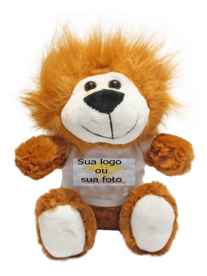 Kit com 50 Bichinhos do Safari com Camiseta Personalizada - ALT: 20 cm x LARG: 17 cm