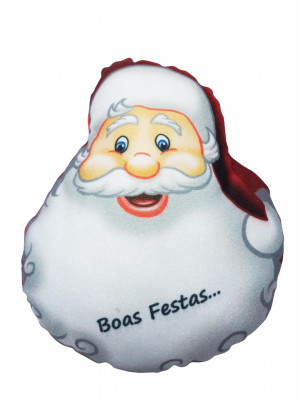 Papai Noel de Pelúcia - Frase Boas Festas - PPN04 - Alt: 10cm x Larg: 8cm