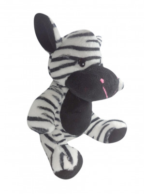 Zebra Safari de Pelúcia - Z7004 - ALT 20cm X LARG 17cm